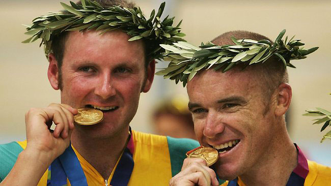 Stuart O'Grady teamed with Graeme Brown in the Madison to claim Olympic gold in Athens