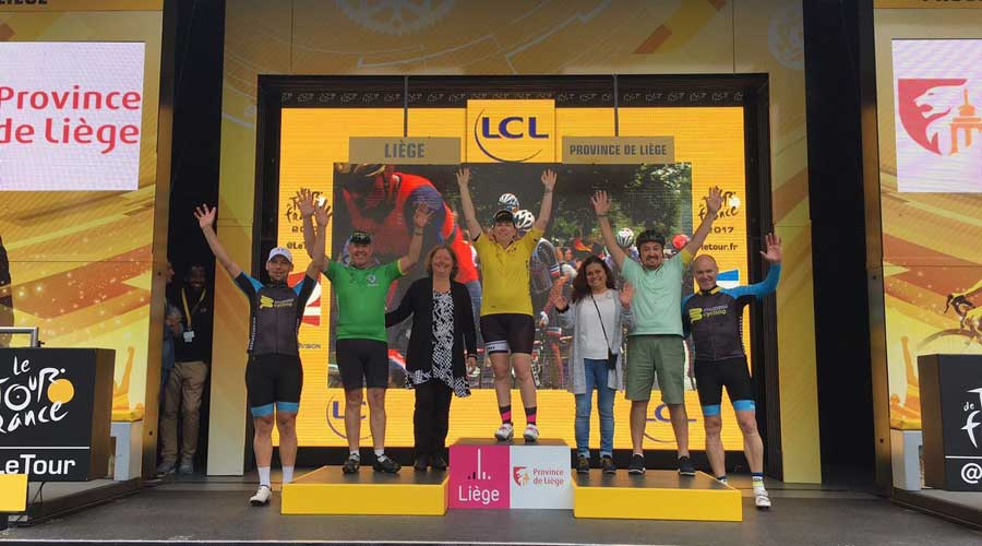 Finish your cycling tour on the podium